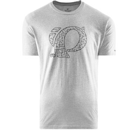 PEARL iZUMi Graphic T-shirt Heren, pizza maze dark heather grey